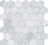 C-MOS HEXAGON BIANCO CARRARA POL 305x305x6
